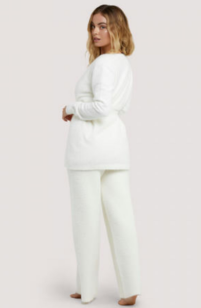 New Wolf & Whistle Lounge Ivory Knitted Rib Cardigan
