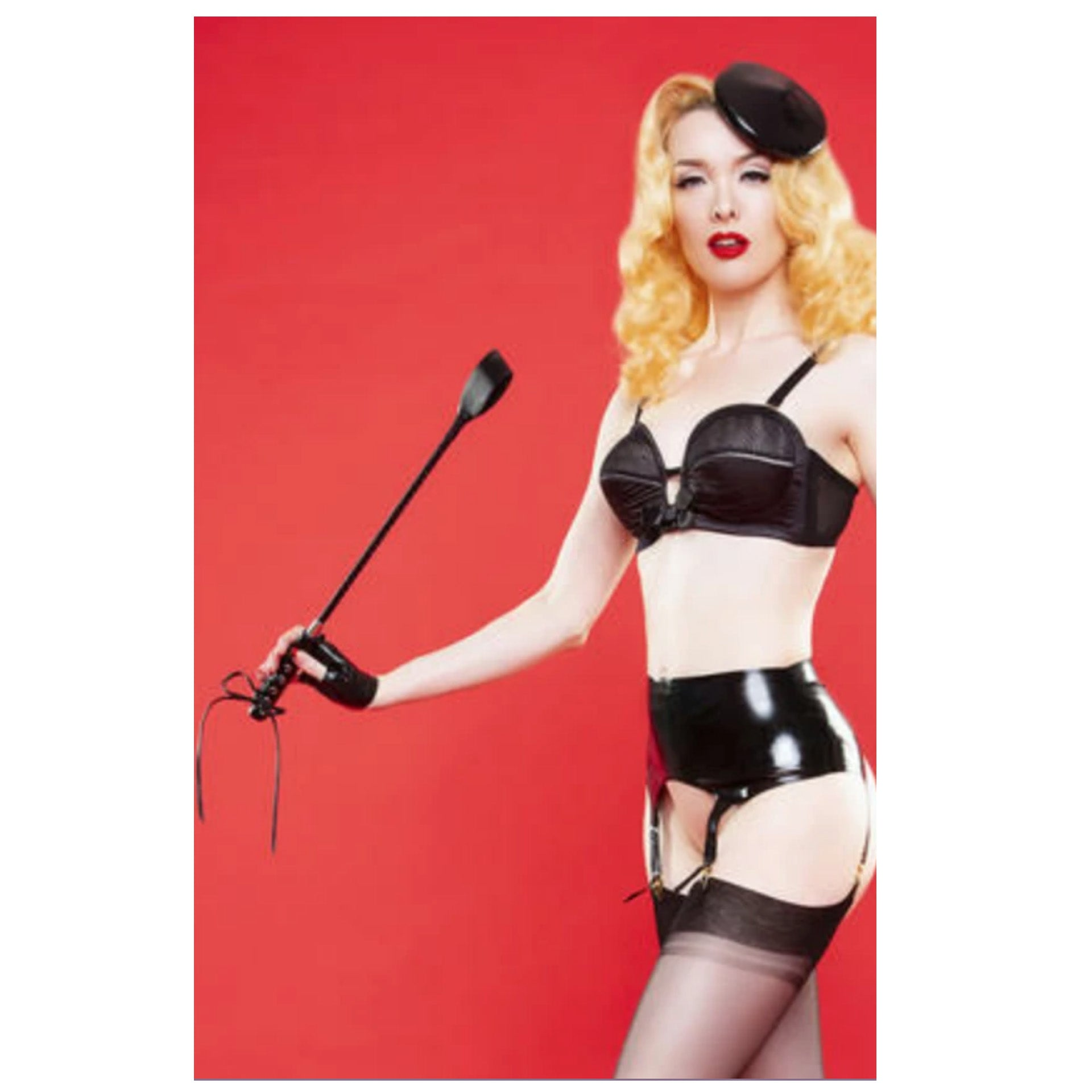 Bettie Page by Playful Promises Faux Leather Riding Crop