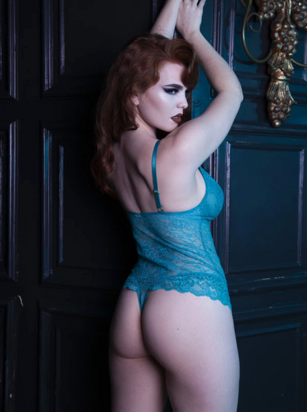 Teal Lace Body UK8-UK22