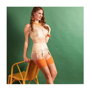 Pumpkin Glamour Seamed Stockings by What Katie Did