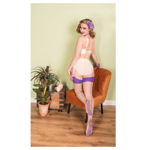 Purple Glamour Seamed Stockings by What Katie Did