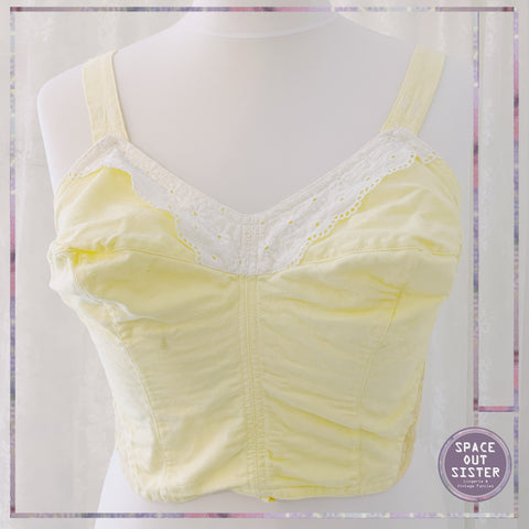Vintage Cotton Lemon Longline Bra