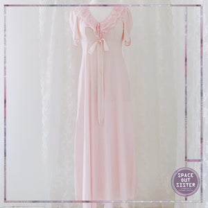 Vintage Full Length Rose Pink Nightgown