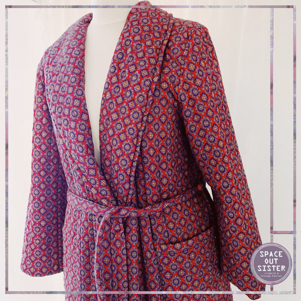 Quilted Paisley Dressing Gown