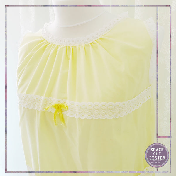 Vintage 60s Lemon Pie Nightdress