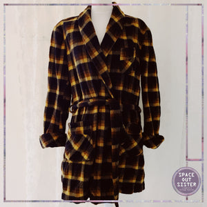Vintage Terra Checked Robe