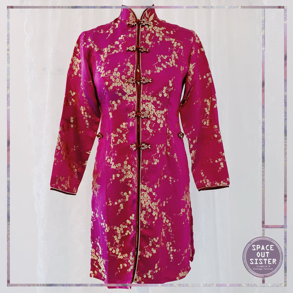 Purple and Gold Chinese Tunic