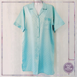 1990s Vintage Miss Helen Mint Green Nightshirt