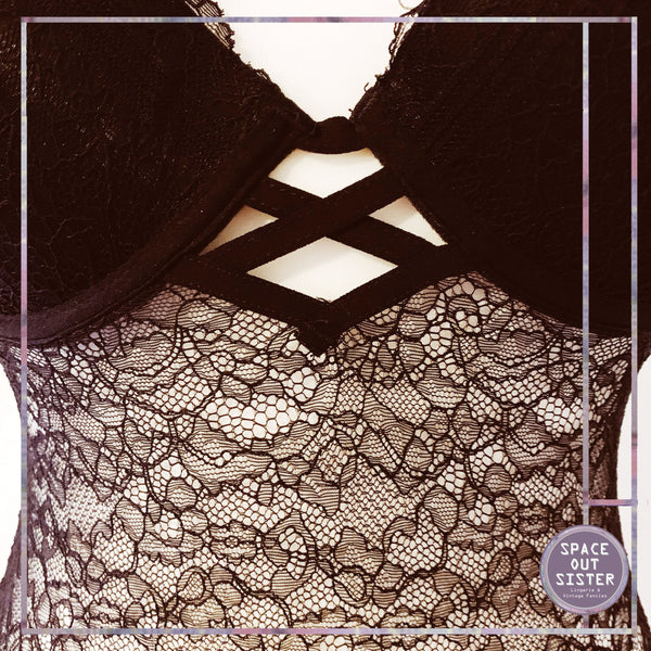 1990s Lace & Lattice Bodysuit
