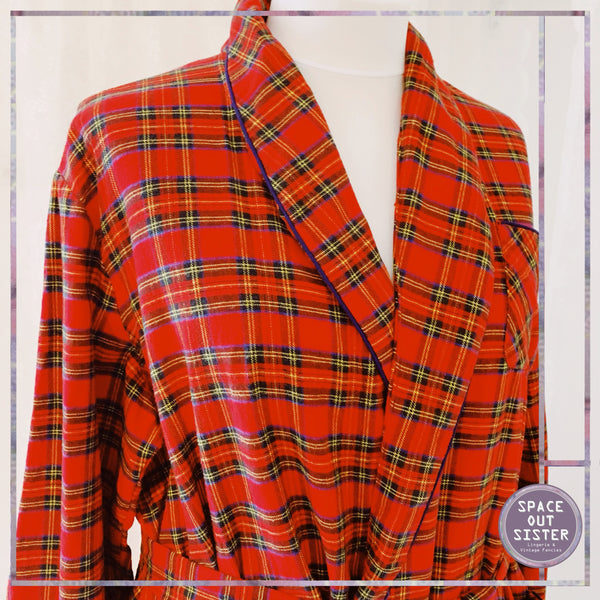 French Country Red Tartan Robe