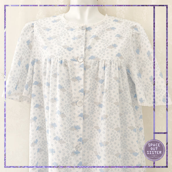 1980s Vintage Fluffy Cloud Nightdress