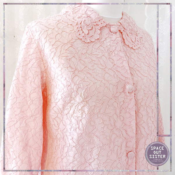 Vintage Guipure Lace Dressing Gown