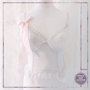 White Satin Bow Basque