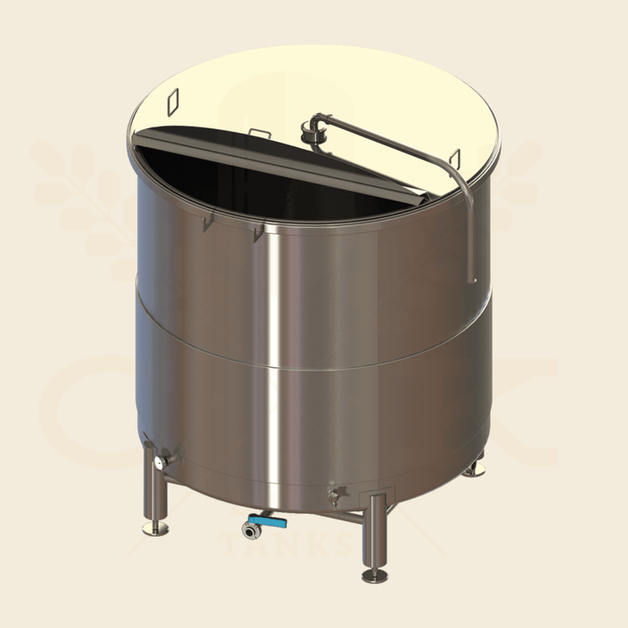 30 BBL | Open Top Fermentation Vessel | Lift Open Lid
