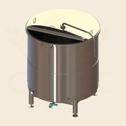 5 BBL | Open Top Fermentation Vessel | Lift Open Lid