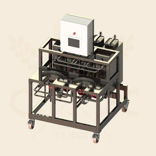 Two-Station Semi-Auto Keg Washer