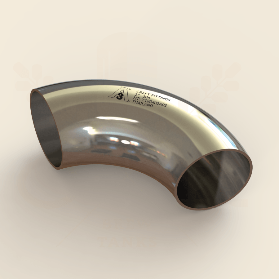 1.5 in. | 90 Degree Short Weld Elbow | 3A 304