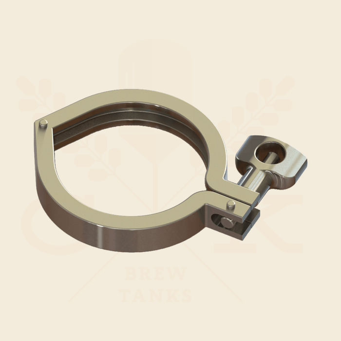 6.0 in. | Single Hinge Heavy Duty Tri Clamp | 304