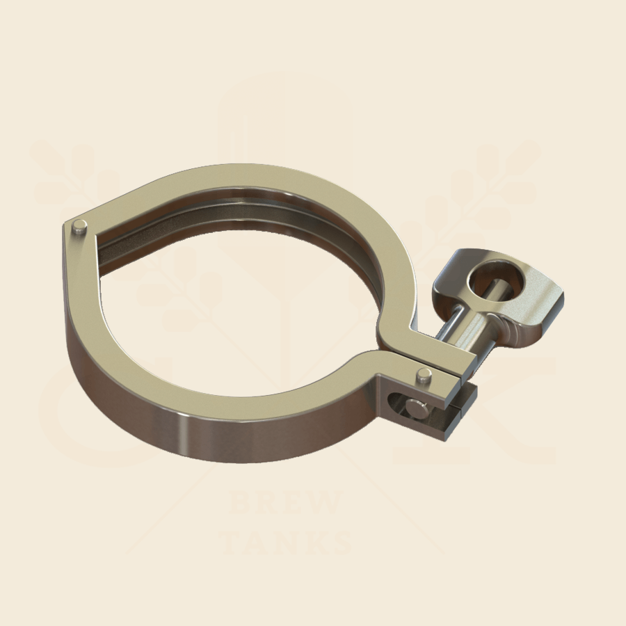 1.5 in. | Single Hinge Heavy Duty Tri Clamp | 304