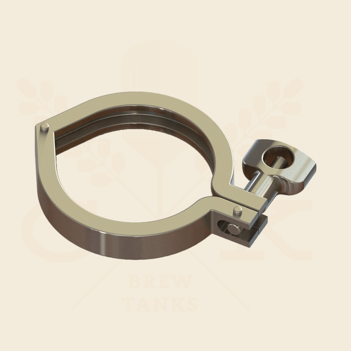 4.0 in. | Single Hinge Heavy Duty Tri Clamp | 304