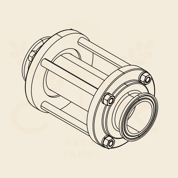 3.0 in. | Inline Sight Glass | EPDM 304