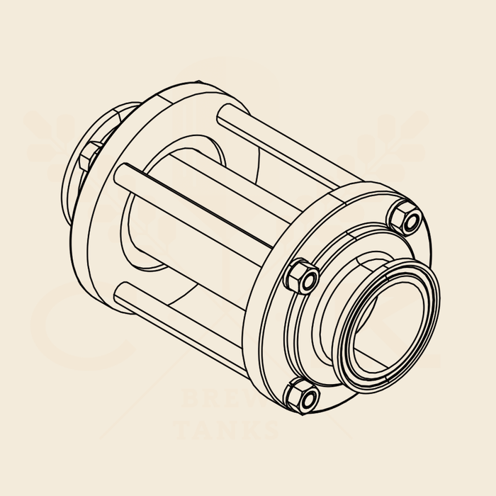 2.0 in. | Inline Sight Glass | EPDM 304