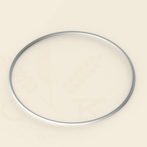 Manway Gasket | Pressurized Manway Glass or Stainless | 458 mm | Silicone