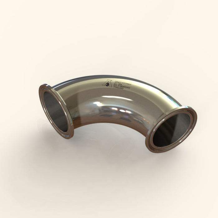 0.5 in. | 90 Degree Clamp Elbow | 3A 304