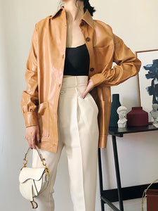 Amber PU Leather Jacket