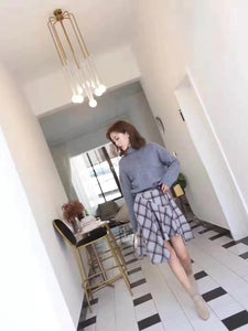 Xenia Plated Pattern Skirt