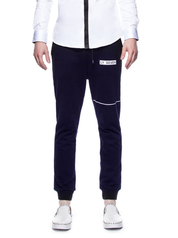 LY SEVEN Secret Skyline Sweatpants Navy Blue