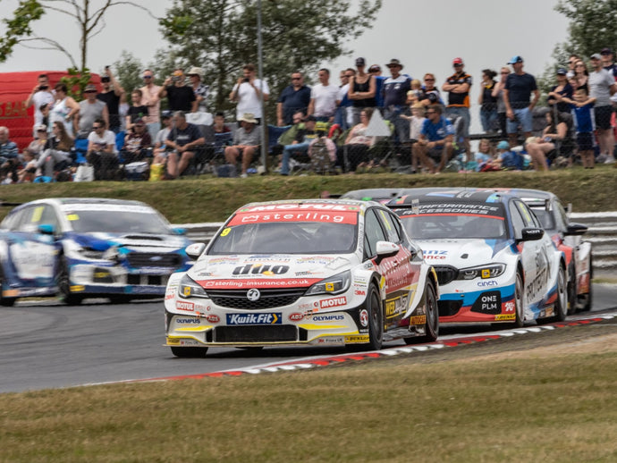 Once again the Sterling Insurance with Power Maxed Racing Vauxhall Astras feature in thrilling entertainment for a packed BTCC crowd