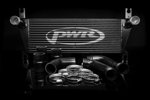 PWR Ford Ranger T6 3.2 Uprated Front Mount Intercooler (FMIC) Black Full Kit inc. Pipework