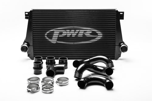 PWR VW Amarok 2.0TDI 2012-2018 Uprated Front Mount Intercooler (FMIC) Black Full Kit inc. Pipework