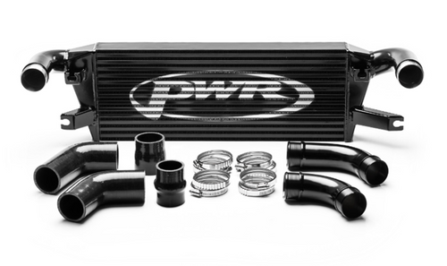 PWR Mitsubishi L200 2015- Uprated Front Mount Intercooler (FMIC) Black Full Kit inc. Pipework