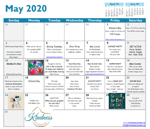 Kindness Cookies - May Calendar
