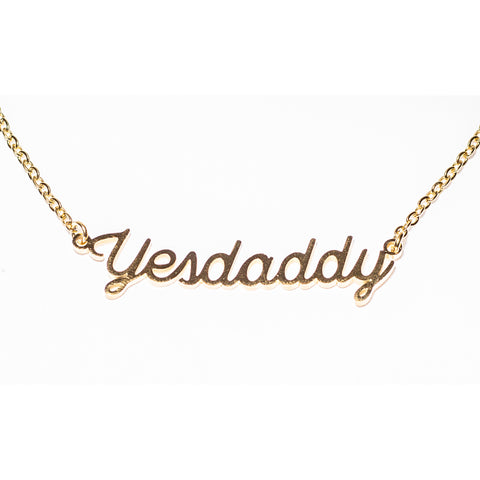 Yes Daddy Gold Stainless Steel Necklace