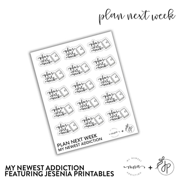Plan Next Week | Lettering by Jesenia Printables