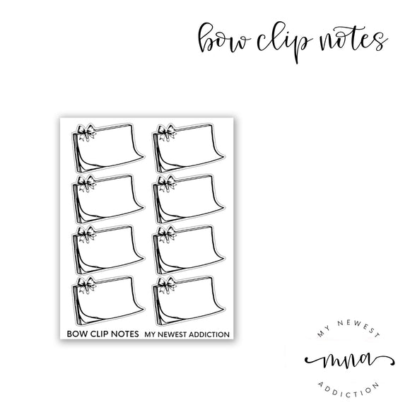 Bow Clip Notes Half Boxes