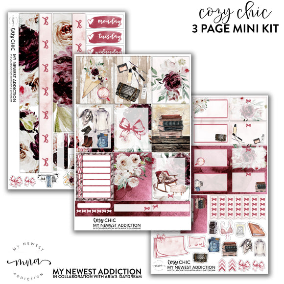 Cozy Chic | 3 Page Mini Kit in Collab kit with Aria's Daydream