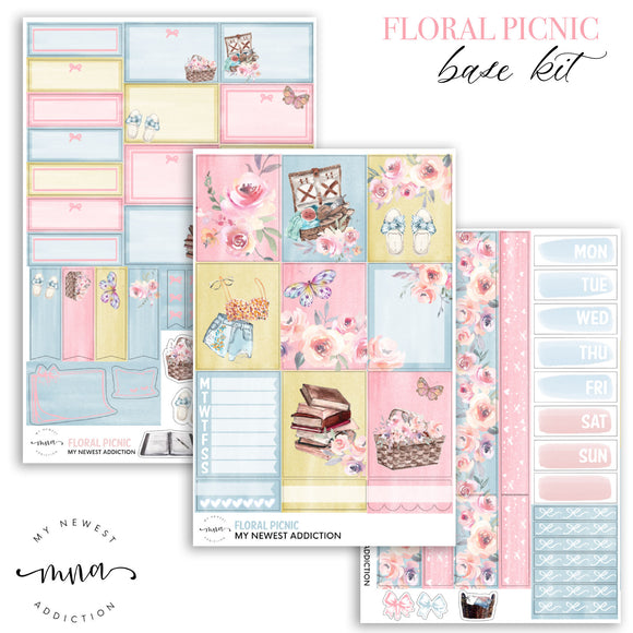 Floral Picnic Sticker Kit