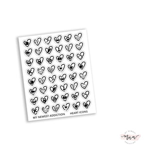 Heart Icons | Foiled