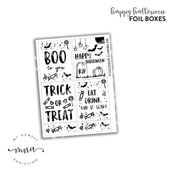 Happy Halloween Foil Boxes
