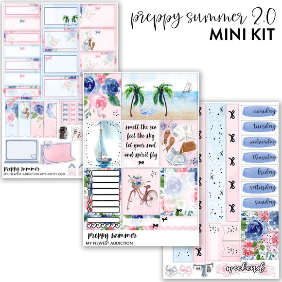 Preppy Summer 2.0  | Foiled Mini Kit