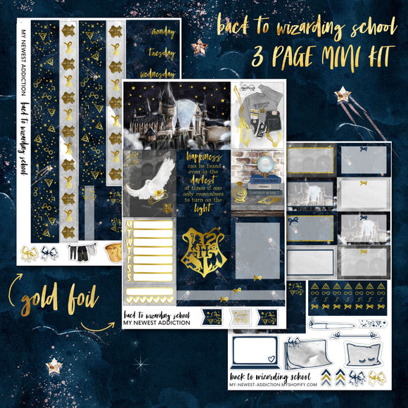 Back to Wizarding School | Foiled Mini Kit