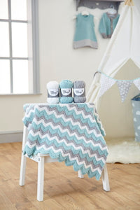 West Yorkshire Spinners Knitted Zig Zag Baby Blanket Kit