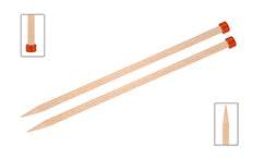 KnitPro Basix Birch Single Pointed Straight Needles
