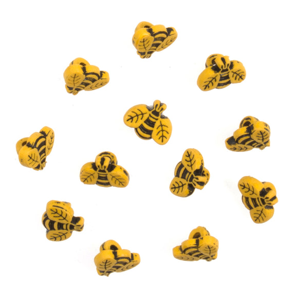 Trimits Bee Buttons - pack of 12