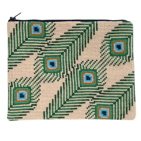 Fru Zippe Woollen Cross Stitch Kit: Feather Make-Up Bag