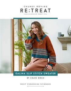 Galina Slip Stitch Sweater by Chloe Birch for West Yorkshire Spinners Re:Treat